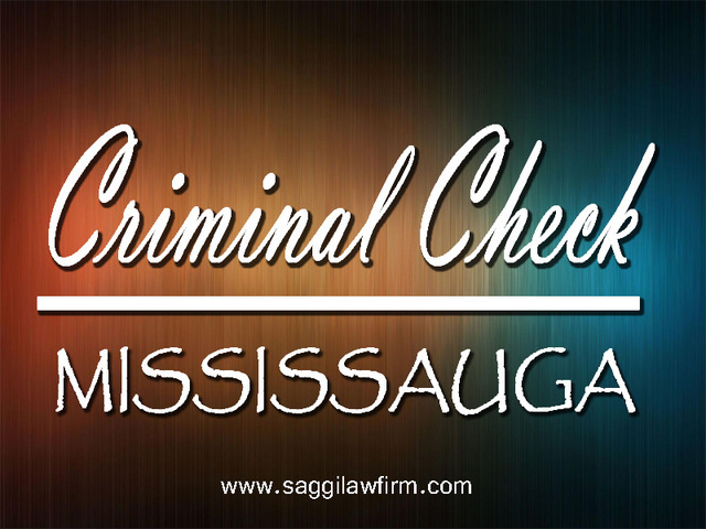 Criminal Check Mississauga