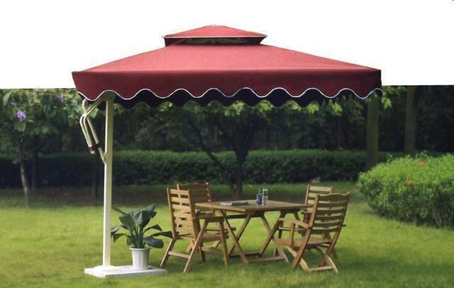 太陽傘側臂式遮陽板的安裝優點