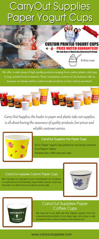 CarryOut Supplies Hot Paper Cups