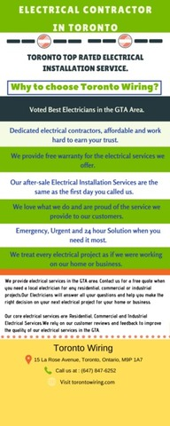 Voted Best Electrician in Toronto Downtown & GTA